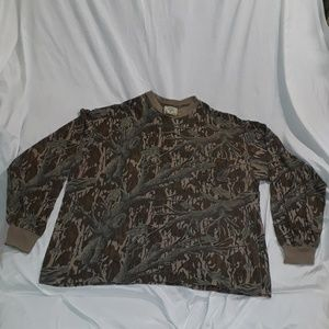 Mossy Oak Camouflage Long Sleeve Shirt Size XXXL